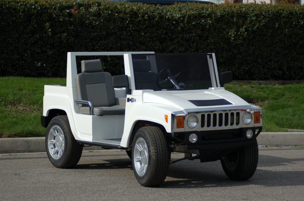 HUMMER Golf Cart White