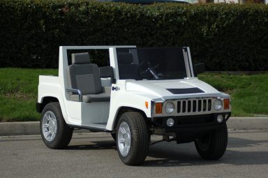 HUMMER Golf Cart White